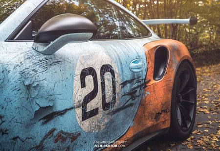 An tuong voi Porsche 911 GT3 RS trong 'bo canh' Gulf Racing - Anh 6
