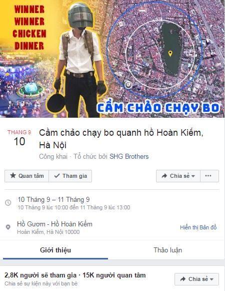 Hang tram nam thanh nu tu doi mu bao hiem, cam chao chay quanh Ho Guom - Anh 1