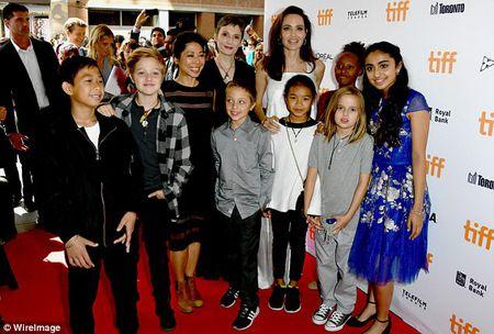 Angelina Jolie rang ngoi cung cac con tren tham do - Anh 12