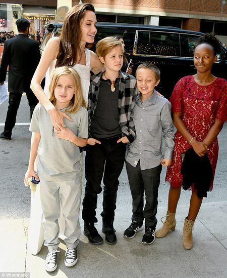 Angelina Jolie rang ngoi cung cac con tren tham do - Anh 5