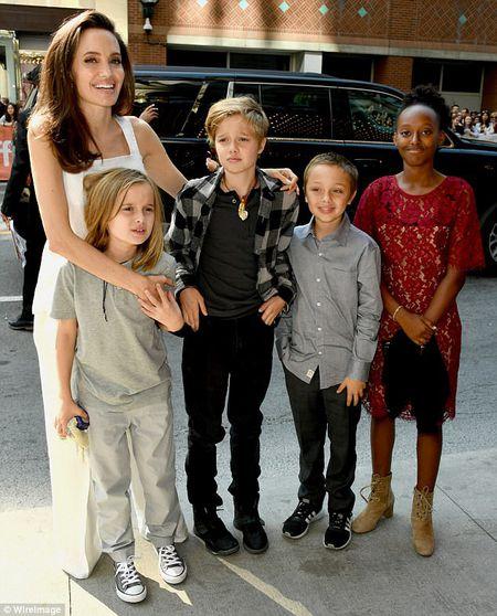 Angelina Jolie rang ngoi cung cac con tren tham do - Anh 6