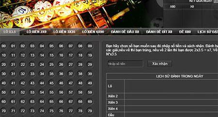 Truy to 13 doi tuong danh bac tren trang web lode365.com - Anh 1