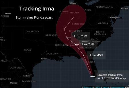 Sieu bao Irma 'quat nat' Florida - Anh 1