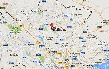 Tuyen Quang: Toan canh hien truong sap cau Vom o Chiem Hoa - Anh 1