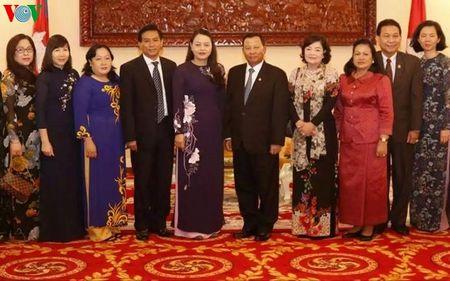 Chu tich Thuong vien Campuchia tiep Doan dai bieu Hoi LHPN Viet Nam - Anh 1