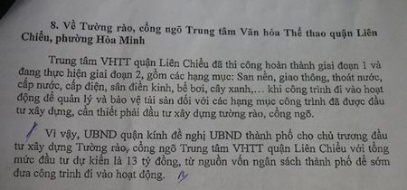Da Nang: Xin 13 ty dong xay tuong rao, loi do 'van ban viet tat' ? - Anh 2