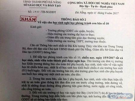 Da Nang cho hoc sinh nghi hoc de tranh bao so 10 - Anh 1