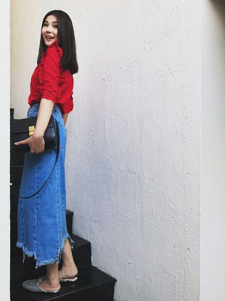 Sao Viet chuong style 'banh beo' khi xuong pho - Anh 2