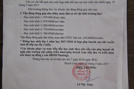 Chan chinh hieu truong tam thu tien hoc sinh sai quy dinh - Anh 2