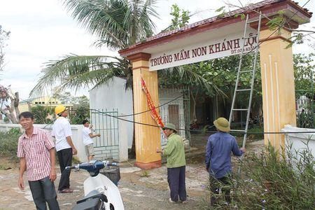 Ha Tinh: Noi luc khac phuc hau qua bao so 10 on dinh truong hoc dau tuan moi - Anh 2