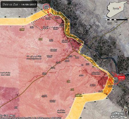 Quan doi Syria danh dep IS o Deir Ezzor, bang qua Euphrates chan nguoi Kurd (video) - Anh 1