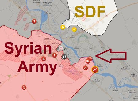 Quan doi Syria danh dep IS o Deir Ezzor, bang qua Euphrates chan nguoi Kurd (video) - Anh 2