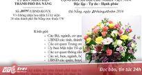 Đà Nẵng không nhận hoa mừng kỷ niệm 20 năm trực thuộc trung ương