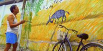 Bức tranh cuối cùng trong 'năm con khỉ' của lão họa sĩ đường phố chất chơi Sài Gòn đang nổi tiếng