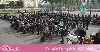 MC Anh Tuấn chạy xe của Trần Lập dẫn đầu đoàn biker diễu hành
