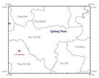 Động đất 3,9 độ Richter gần thủy điện Sông Tranh