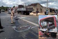Xe buýt chở học sinh gặp tai nạn thảm khốc ở Gia Lai