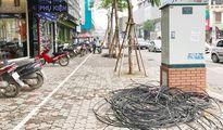 Hạ ngầm cáp điện trên phố Thái Hà, Trung Liệt