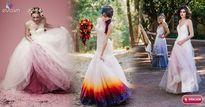 Các cô dâu thế giới đang thích mê váy cưới trắng nhuộm màu lạ mắt