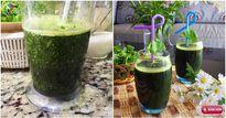Cách làm sinh tố rau má thanh mát ngày hè