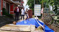 Lở đất đe dọa chung cư ở Đà Lạt