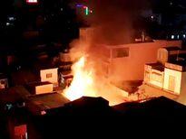 Cháy nổ ở khu Mả Lạng, 3 ngôi nhà bị thiêu