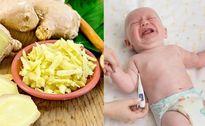 Công thức hạ sốt cực nhanh cho trẻ từ củ gừng