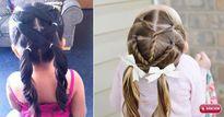 Những kiểu tóc đẹp mà dễ làm cho con gái cứu cánh mẹ bận rộn mỗi sáng
