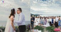 Không cỗ bàn linh đình, cặp đôi dắt quan viên hai họ lên núi để tổ chức đám cưới