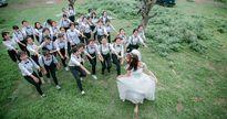 Ảnh kỷ yếu '37 chú rể, một cô dâu' của học sinh Bắc Ninh