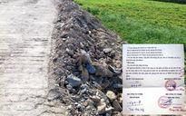 Thanh Hóa: Nhiều sai phạm thi công tuyến đường nối QL1 với QL10
