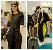 Không hẹn mà gặp, Hồ Ngọc Hà - Sơn Tùng M-TP ton sur ton tại sân bay