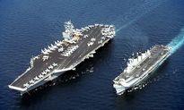 Tàu sân bay Mỹ-Nhật lần đầu tập trận chung trên Biển Đông
