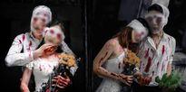 Bộ ảnh Đám cưới ma với những hình ảnh rùng rợn, kinh dị gây tranh cãi