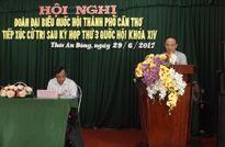 Chủ tịch Hội Luật gia Việt Nam tiếp xúc cử tri tại TP.Cần Thơ