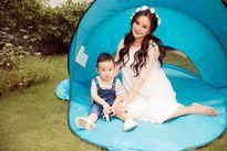 Vy Oanh được chồng đưa về Mỹ chuẩn bị sinh con thứ hai