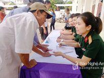 800 thương bệnh binh huyện Anh Sơn được khám, cấp thuốc miễn phí