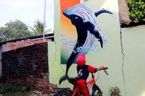 Quảng Nam: Độc đáo làng tranh bích họa nơi xã đảo Tam Hải