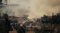 Lính Syria lái T-72 đâm xuống sông vì sợ TOW