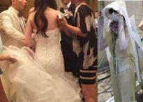 Đám bạn học cũ mặc áo tang bước vào 'tiệc cưới thế kỷ', mặt chú rể biến sắc khi...