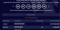 Xổ số Vietlott trị giá hơn 131 tỷ được phát hành ở Bà Rịa - Vũng Tàu