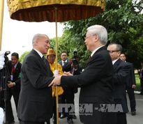 Tổng Bí thư Nguyễn Phú Trọng hội đàm, hội kiến với các nhà lãnh đạo Cam-pu-chia