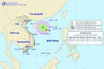 Áp thấp nhiệt đới mạnh lên trên khu vực Bắc biển Đông