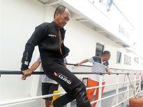 Đội thợ lặn ngừng tìm kiếm thuyền viên nghi còn dưới con tàu chìm