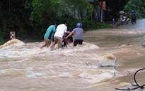 Nước sông Chảy dâng cao gây ngập lụt ở Lục Yên