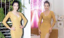 Á hậu Trịnh Kim Chi chúc mừng ca sĩ Long Nhật