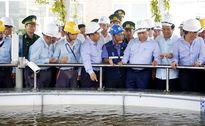 Thủ tướng Nguyễn Xuân Phúc kiểm tra hồ chỉ thị sinh học ở Formosa Hà Tĩnh