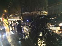 Xe tải tông xe công an khiến 2 cán bộ tử vong, 2 người bị thương chạy 36km/giờ