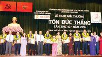31 hồ sơ tham gia Giải thưởng Tôn Đức Thắng năm 2017