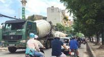 Minh Khai Plaza: Bất chấp giờ cấm xe bê tông ngang nhiên ra vào dự án?